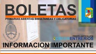 LOS FISCALES DEBERÁN ASEGURAR LA PROVISIÓN DE BOLETAS PARA LA ELECCIÓN